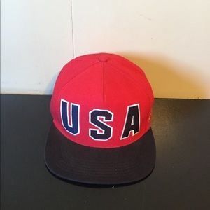 SS12 Supreme Visions of Gold USA Snapback Hat